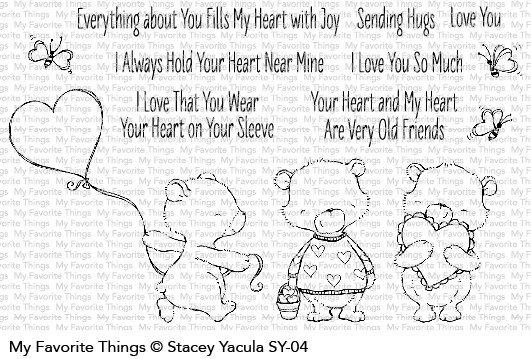 My Favorite Things Clear Stamps SY Joyful Heart Bears