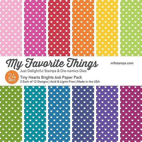 My Favorite Things 6x6 Paper Pad Tiny Hearts Brights