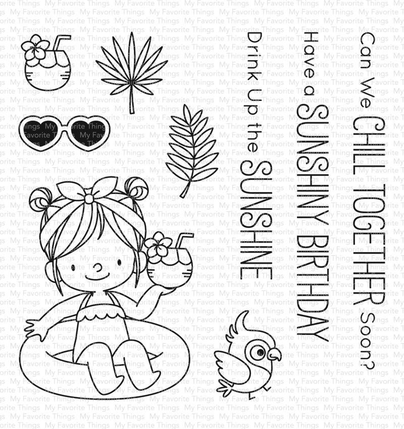 My Favorite Things Clear Stamps Drink Up the Sunshine