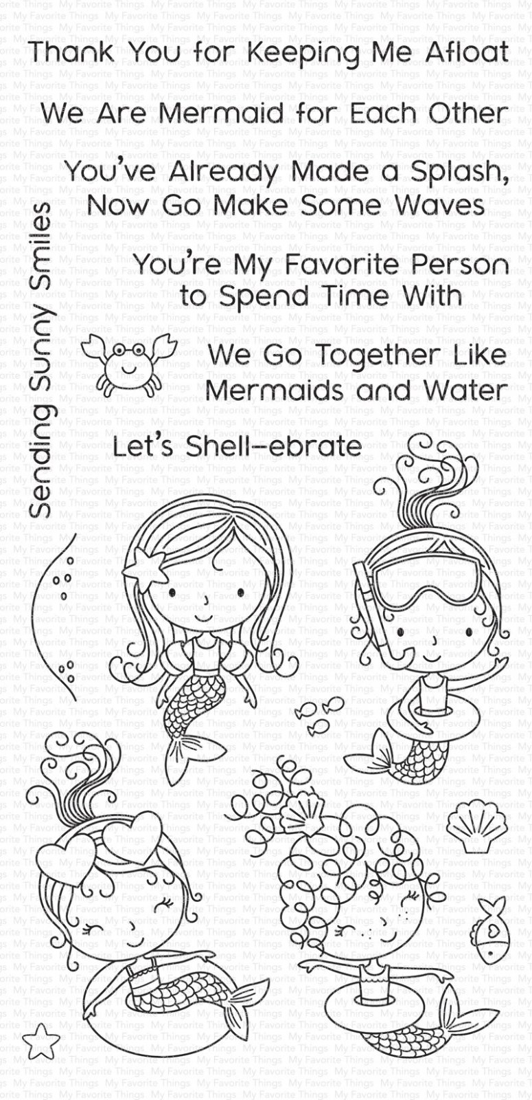 My Favorite Things Clear Stamps Mermaid for Each Other