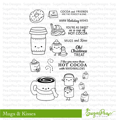 SugarPea Designs Clear Stamps Mugs and Kisses