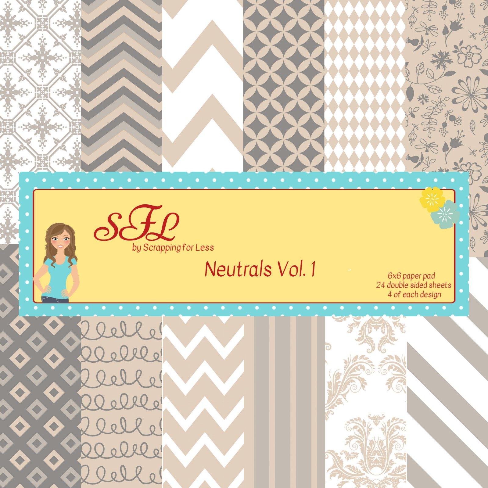 SFL Neutrals Vol. 1 6x6 Paper Pad