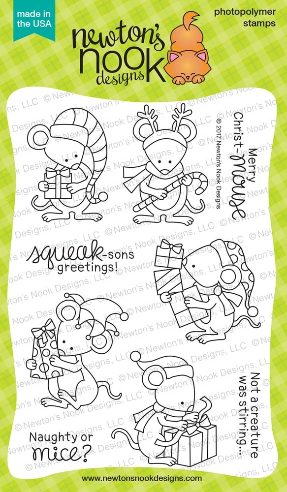 Newton's Nook Clear Stamps Naughty or Mice