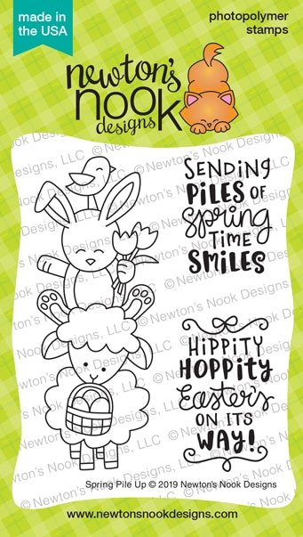 Newton's Nook Clear Stamps and Die Bundle Spring Pile Up