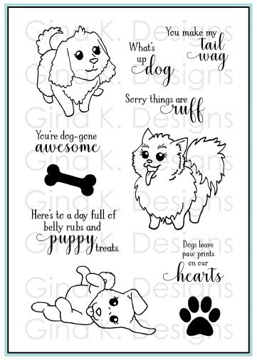 Gina K Designs Clear Stamps Playful Pups