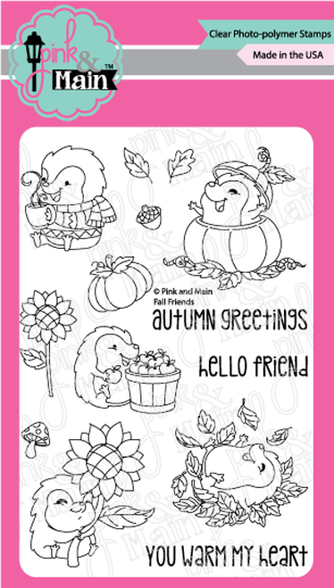 Pink & Main Clear Stamps Fall Friends