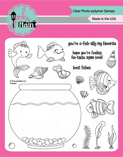 Pink & Main Clear Stamps Fintastic 4x6