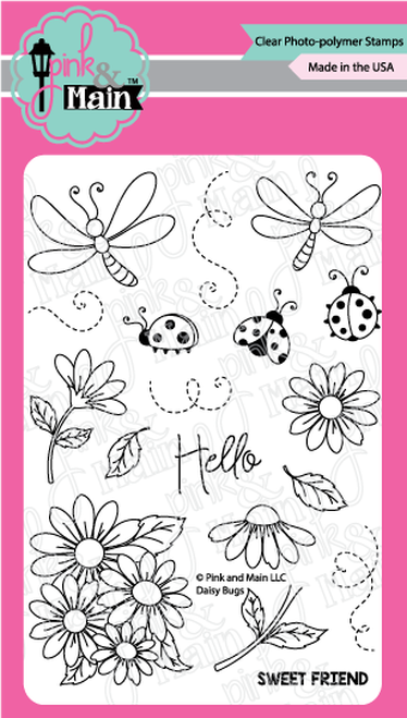 Pink & Main Clear Stamps Daisy Bugs 4x6