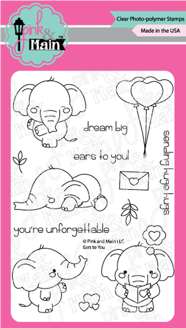 Pink & Main Clear Stamps Ears to You