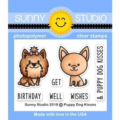 Sunny Studio Clear Stamps Puppy Dog Kisses
