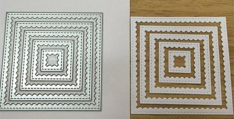 Gina Marie Designs Frames Scalloped Squares