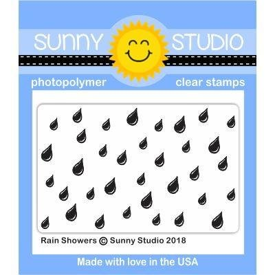 Sunny Studio Clear Stamps Rain Showers