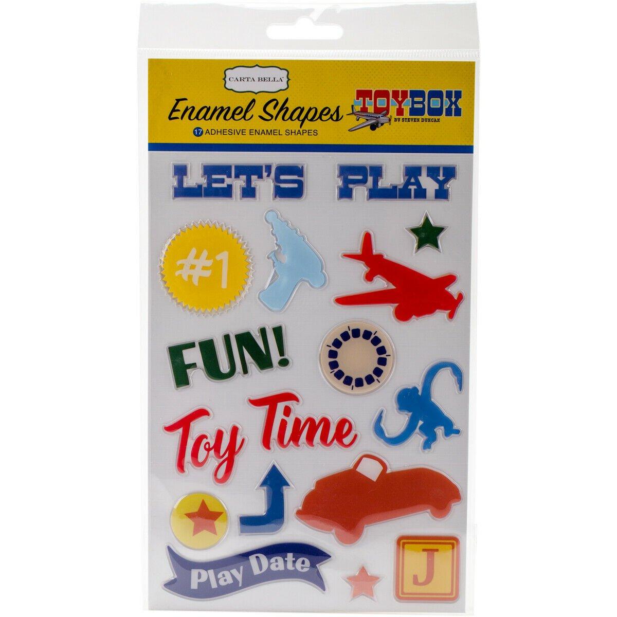 Carta Bella Toy Box Enamel Shapes