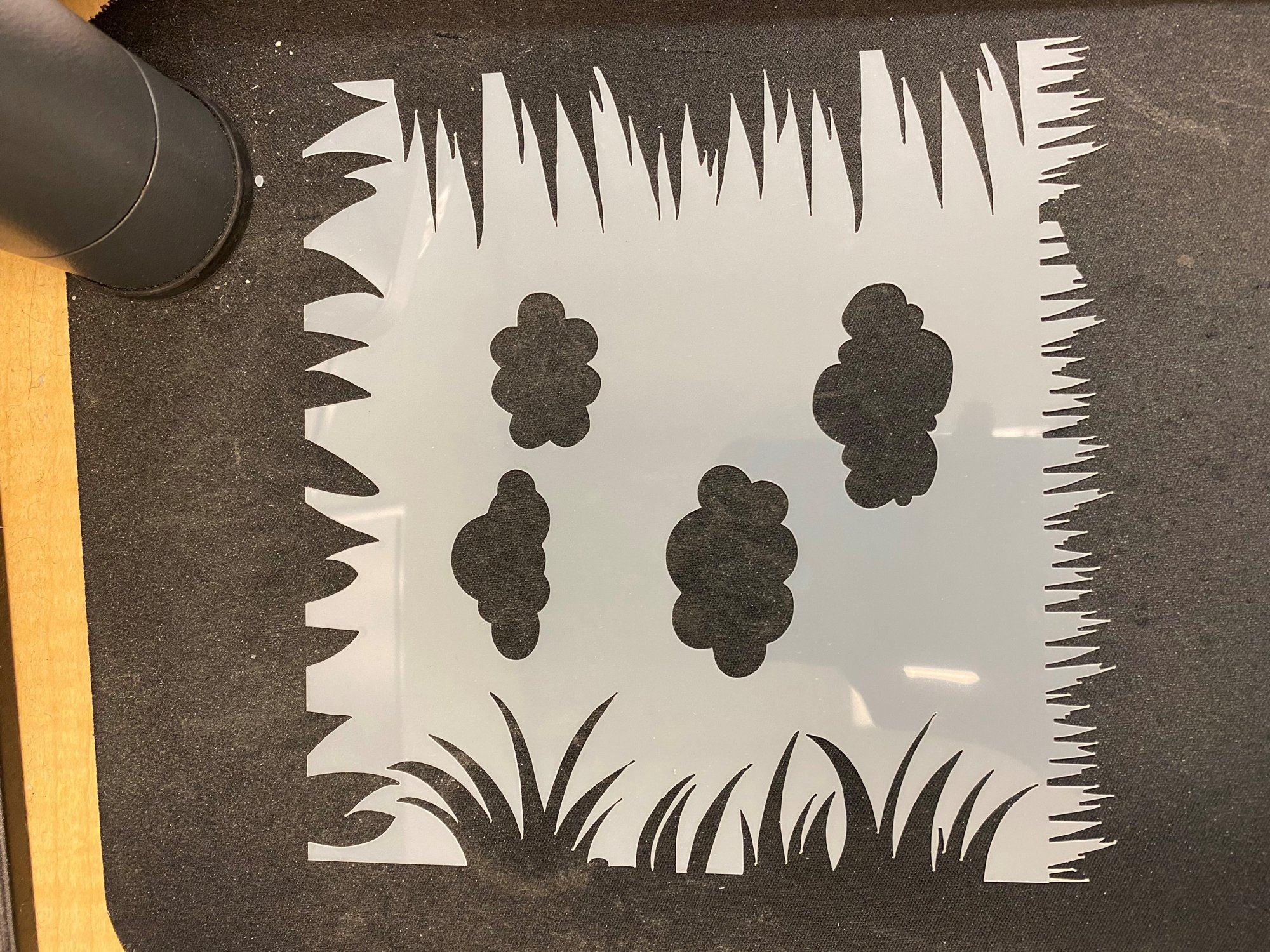 Scrapping for Less 6x6 Stencil Grass and Clouds