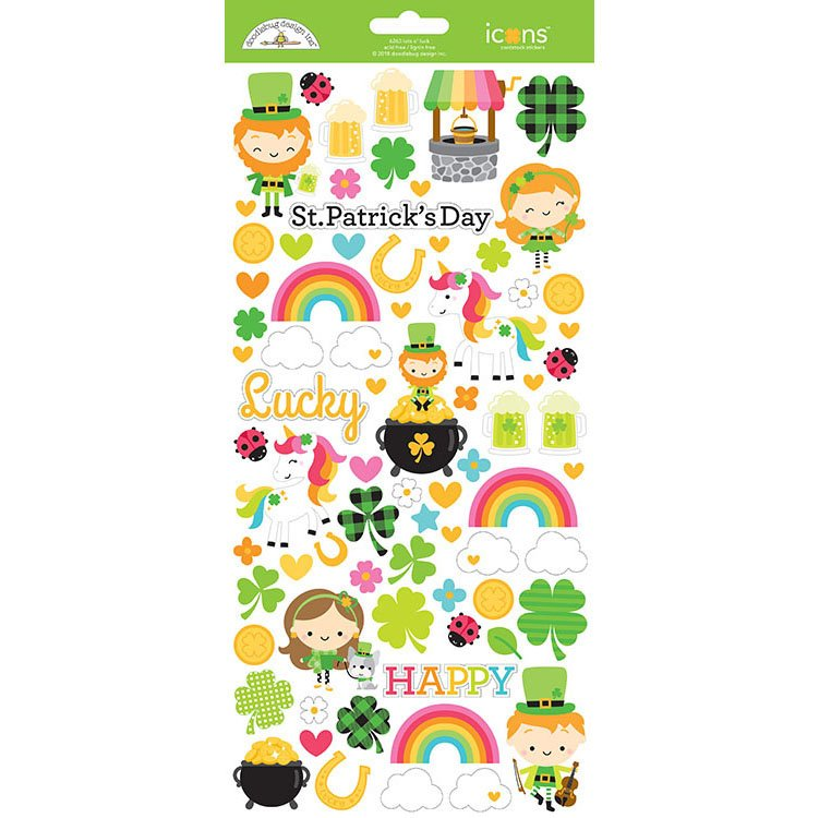 Doodlebug Lots of Luck Icon Stickers