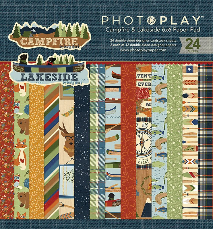 PhotoPlay 6x6 Campfire and Lakeside Paper Pad
