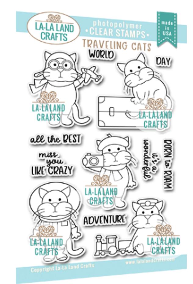 La-La Land Crafts Clear Stamps Traveling Cats
