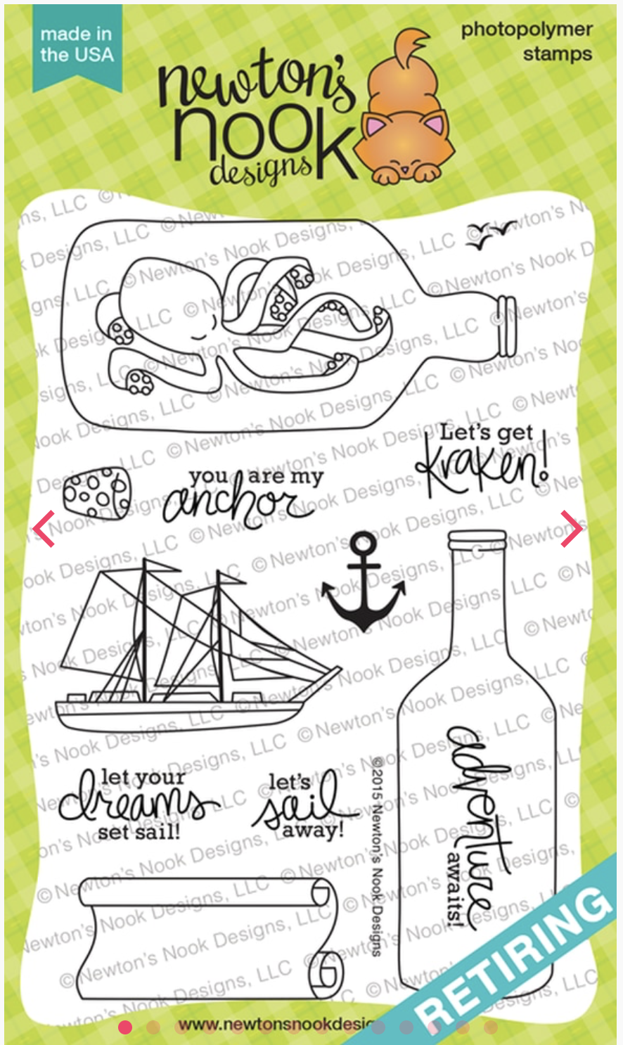 Newton's Nook 4x6 Stamp Messge in a Bottle