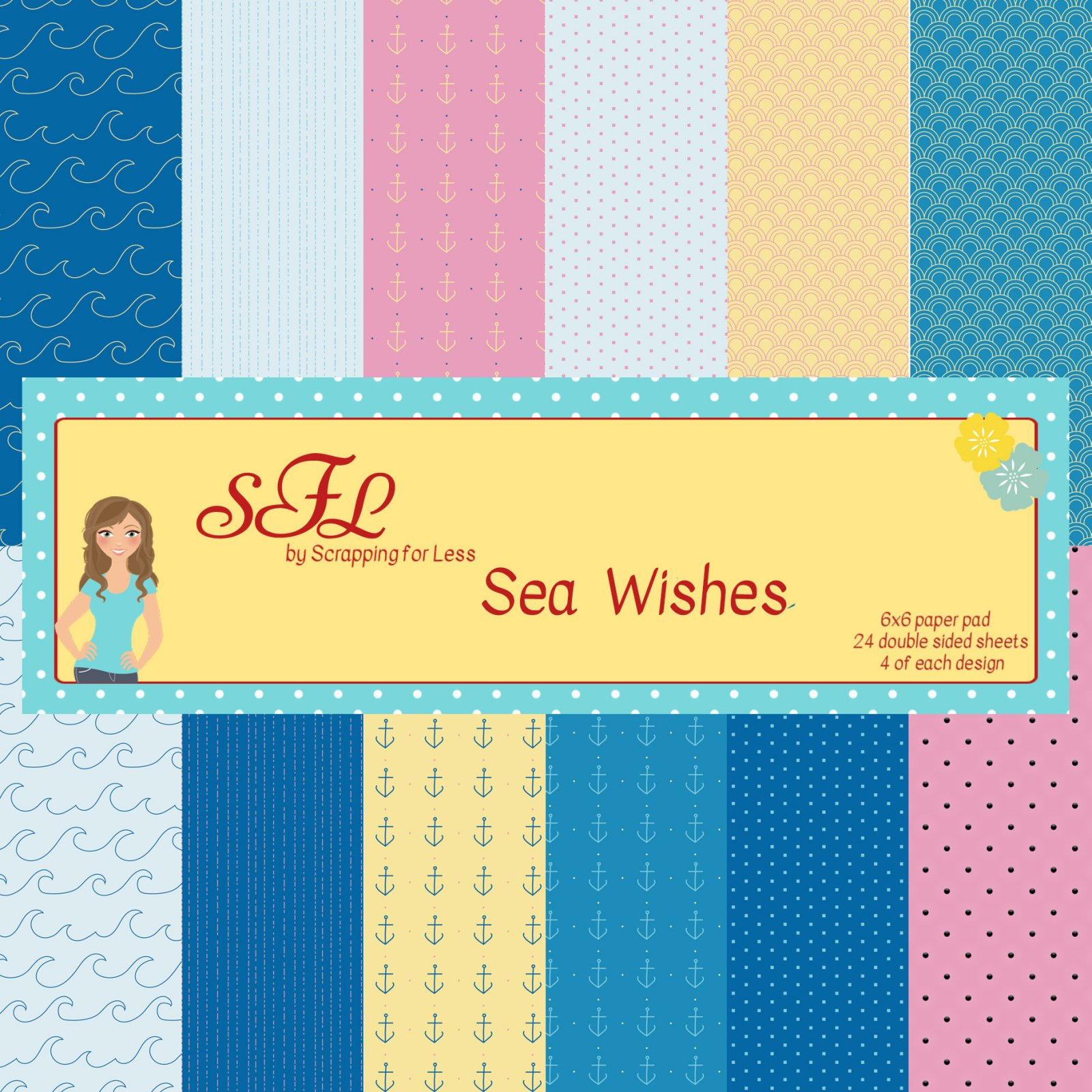 Scrapping for Less Sea Wishes 6x6 Paper Pad