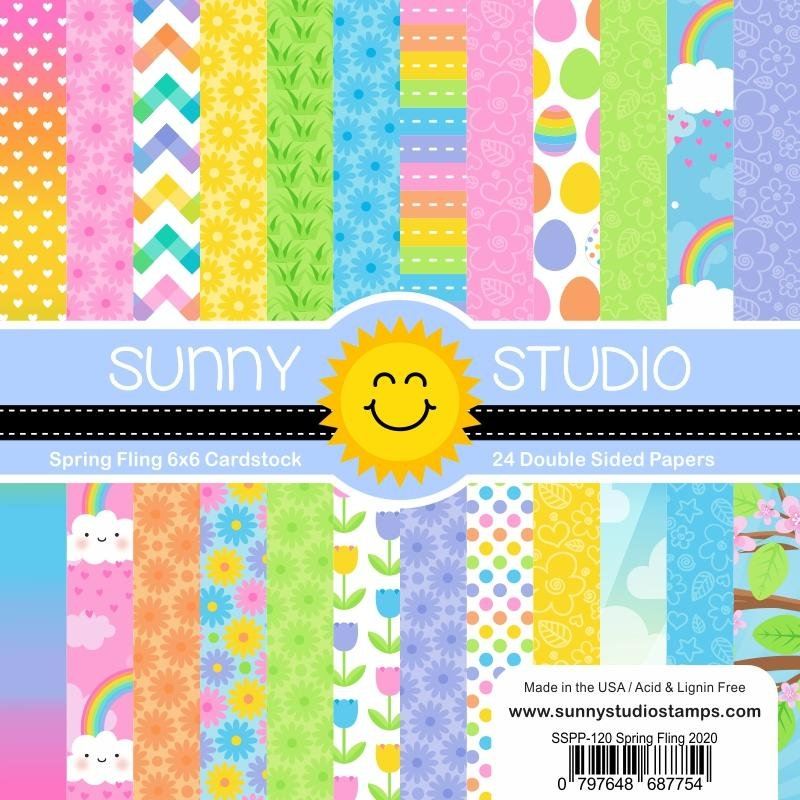 Sunny Studio Stamps Spring Fling 6x6 Paper Pad