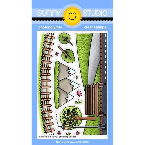 Sunny Studio Clear Stamps 4x6 Spring Scenes