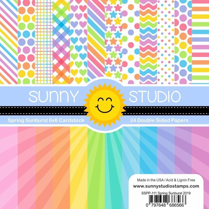 Sunny Studio Spring Sunburst Paper Pad 6x6