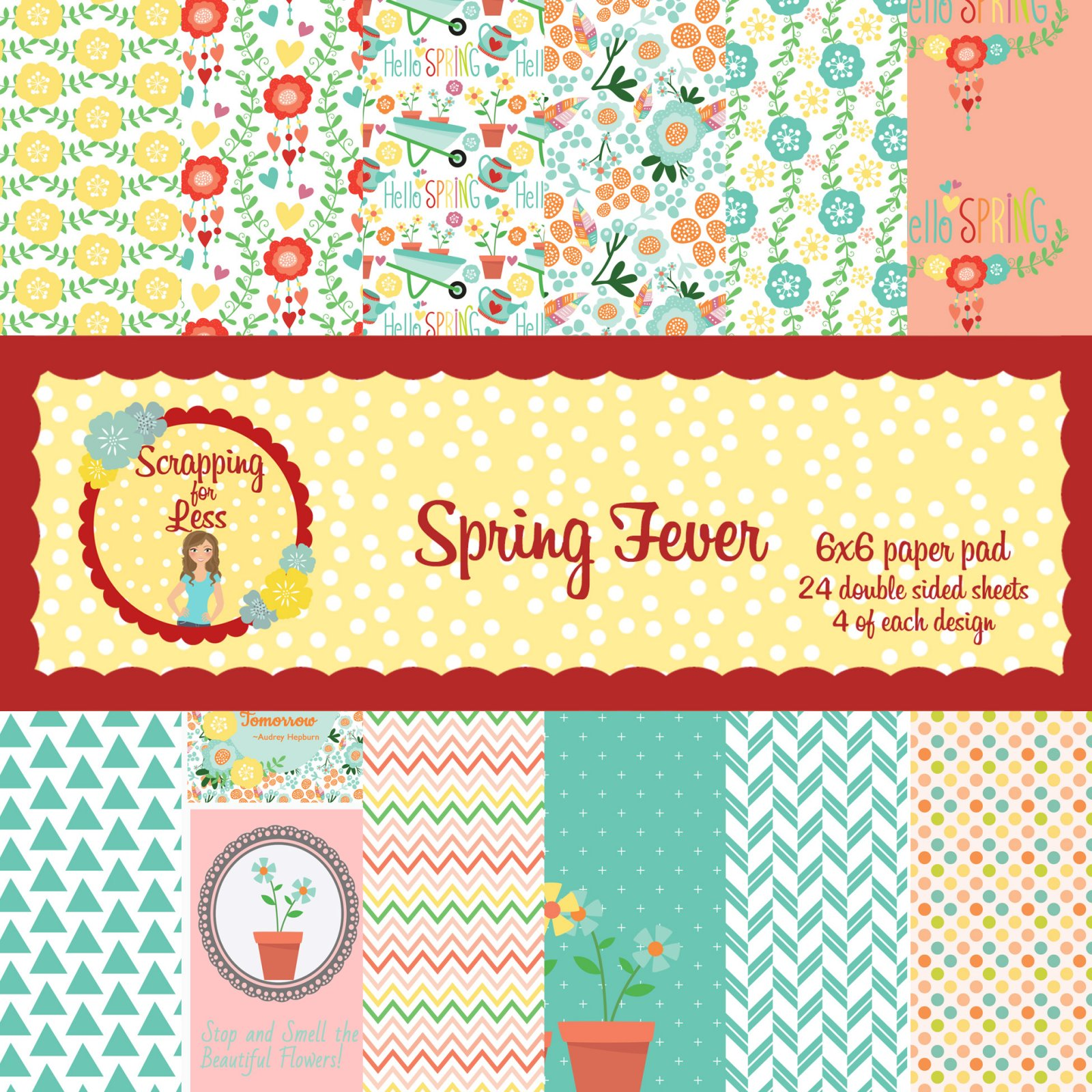 Scrapping for Less Spring Fever 6x6 Paper Pad