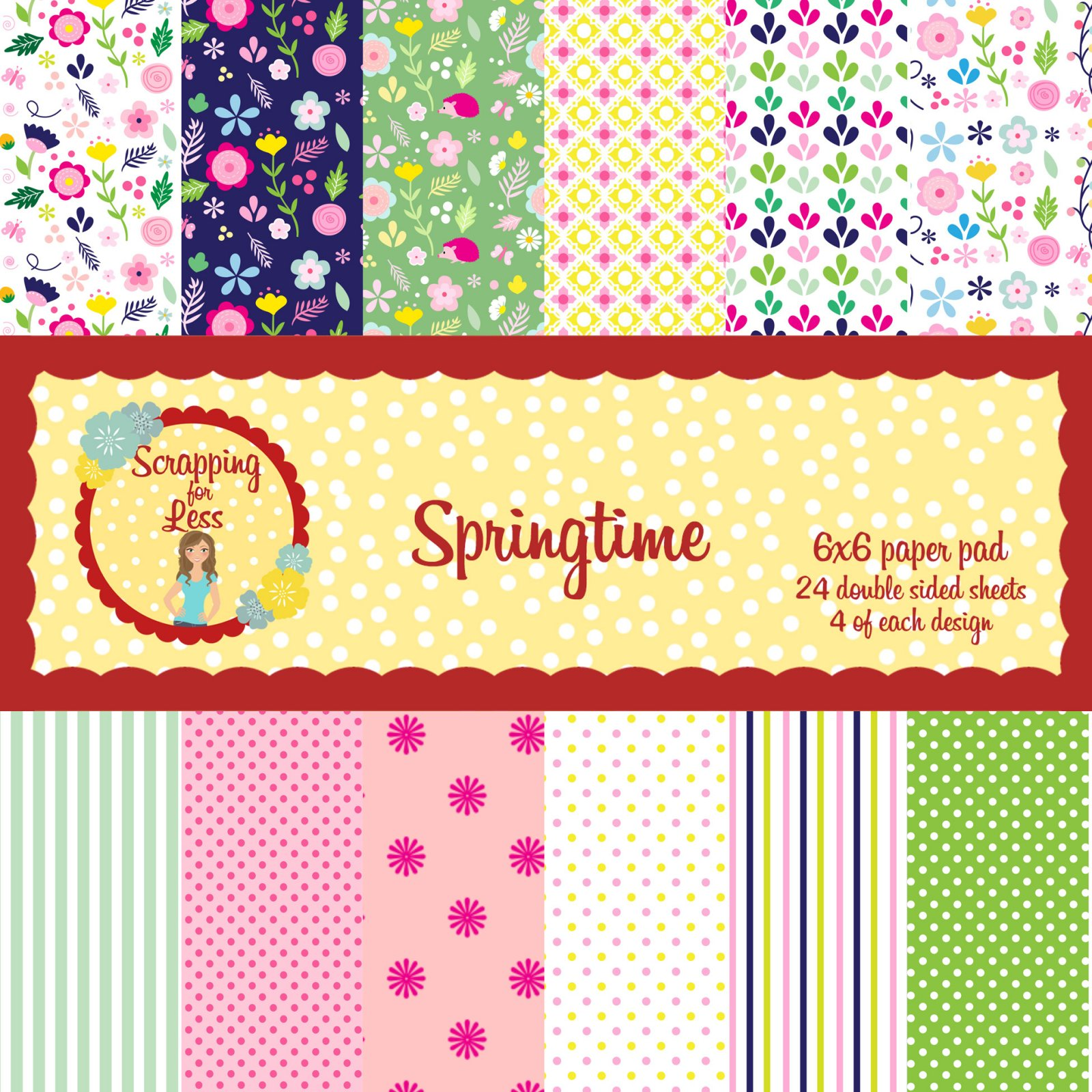 Scrapping for Less Springtime 6x6 Paper Pad