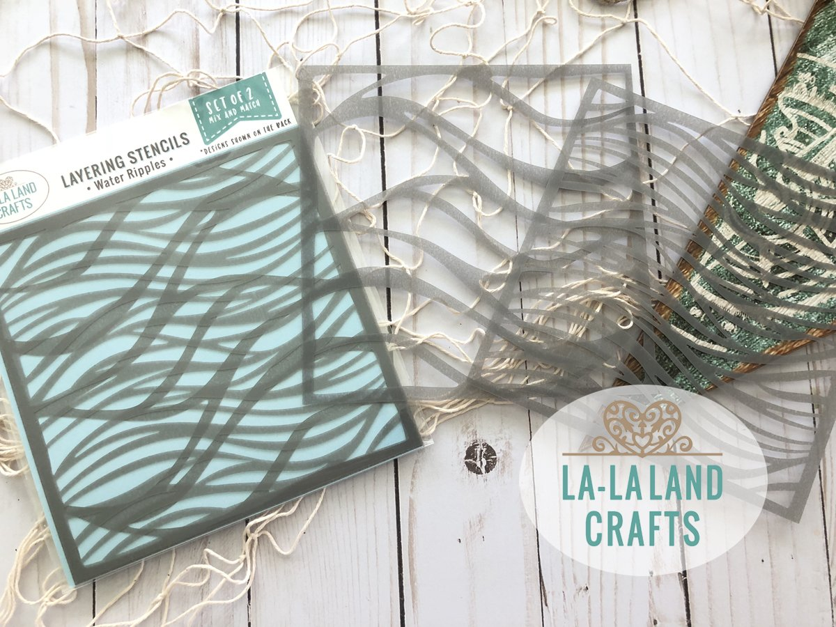 La-La Land Crafts Water Ripples Layering Stencils