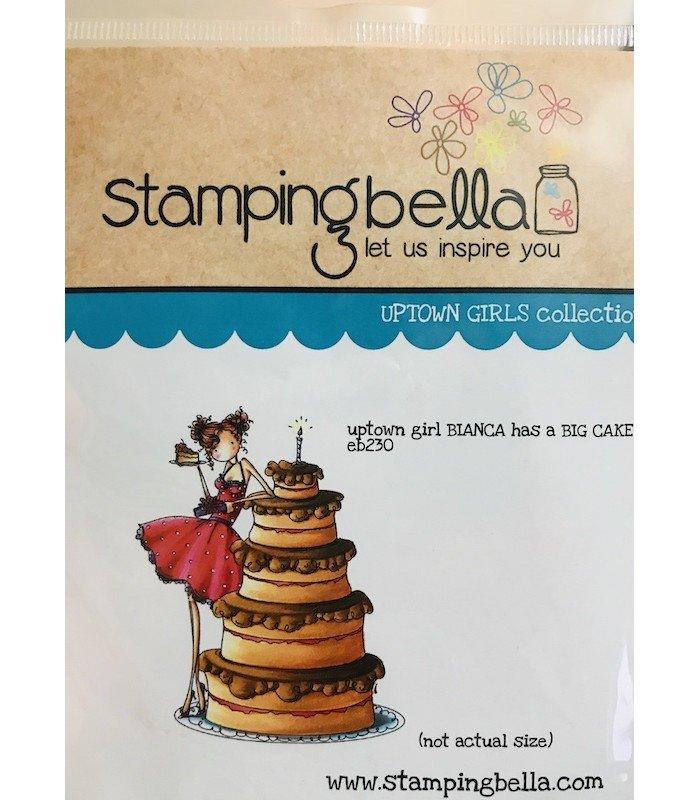Stamping Bella uptown girl bianca has a big cake
