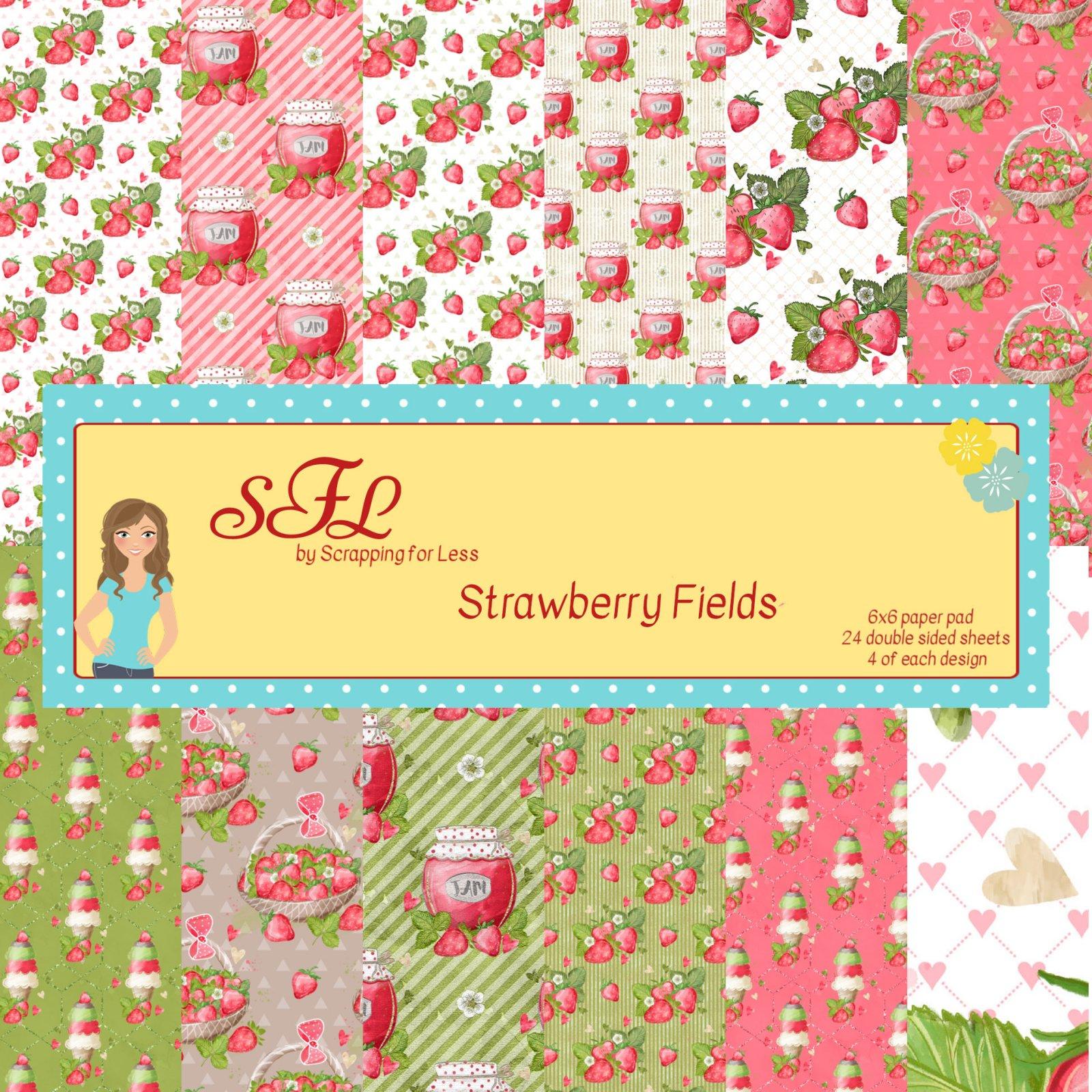SFL Strawberry Fields 6x6 Paper Pad