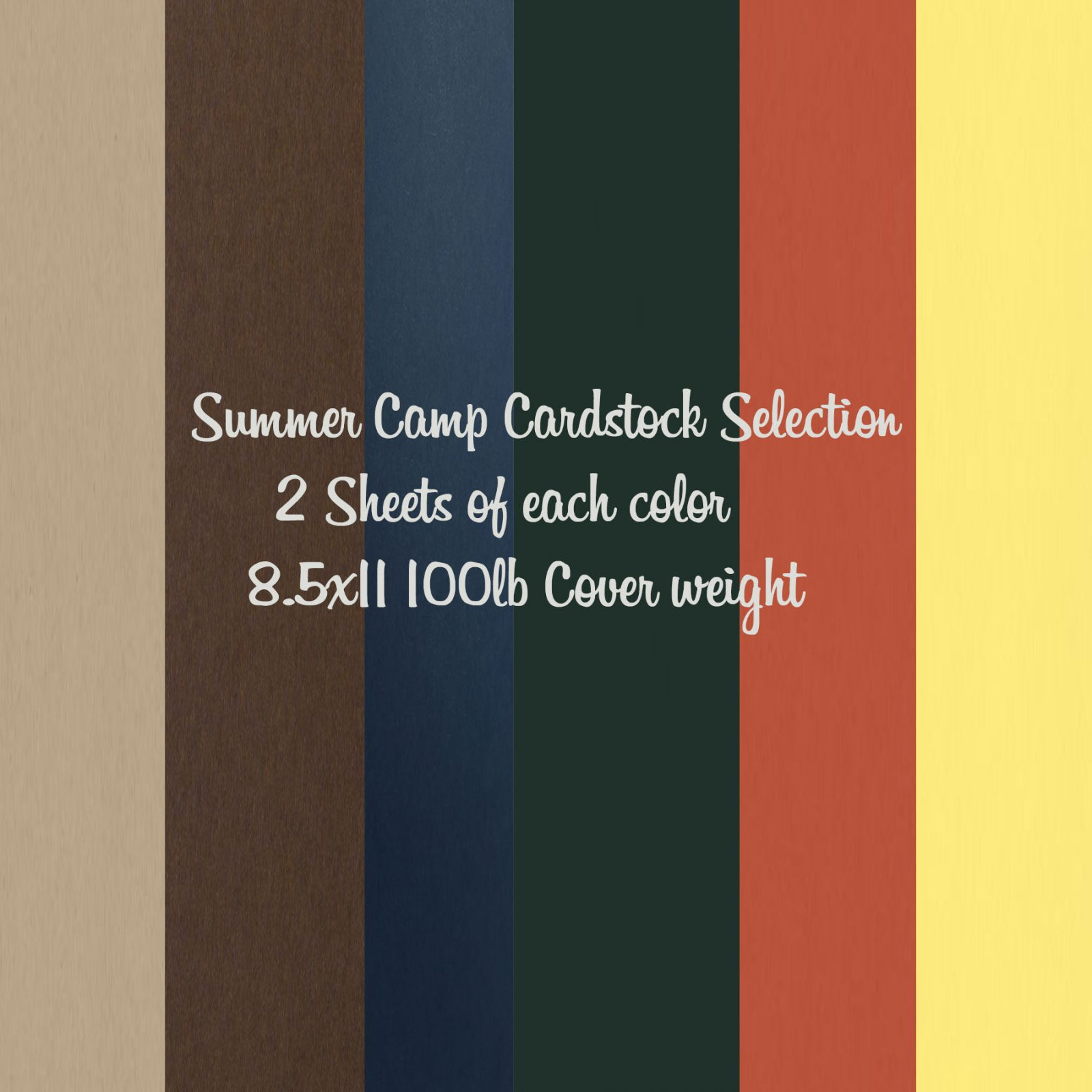 Summer Camp Cardstock Selection
