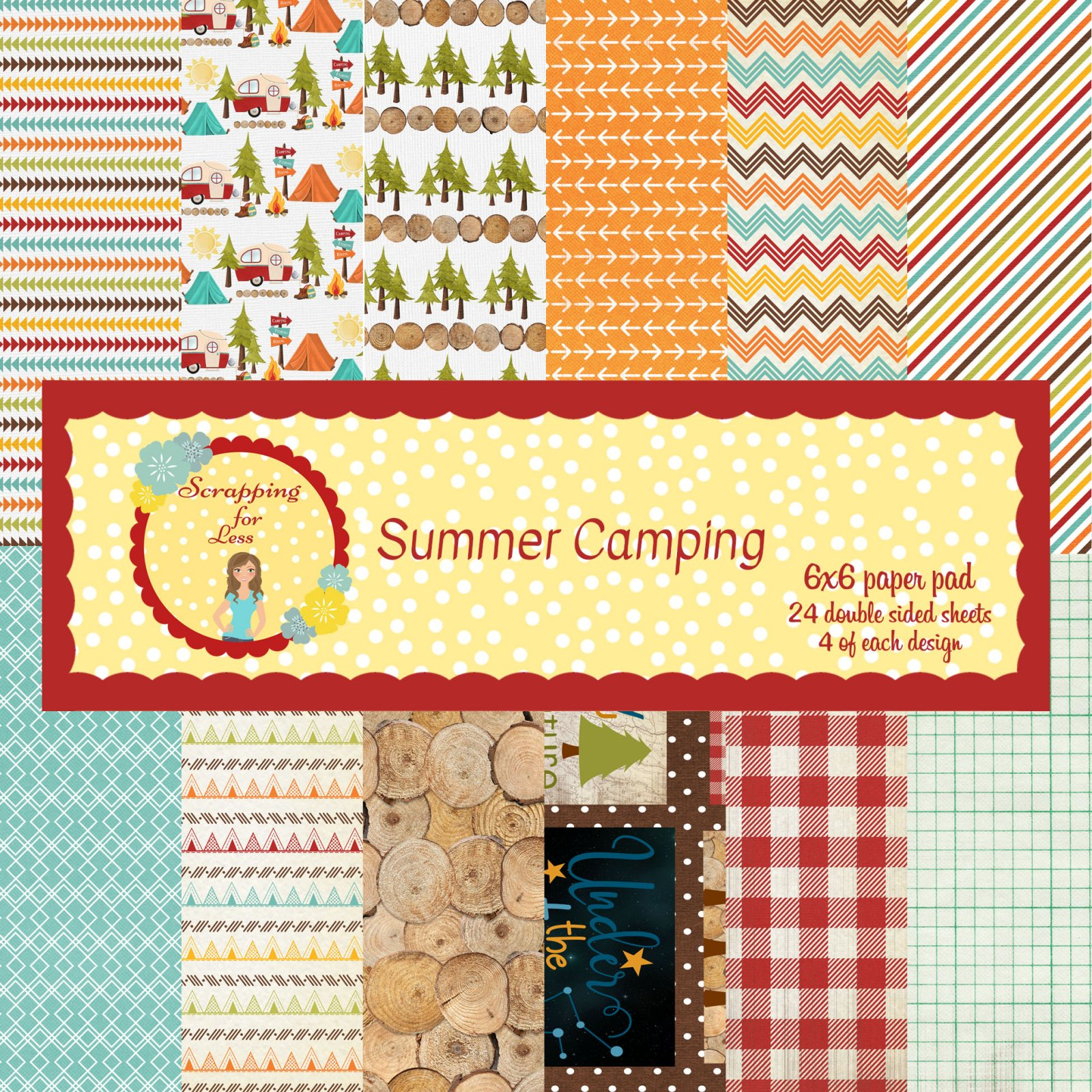 Scrapping for Less 6x6 Paper Pad Summer Camping