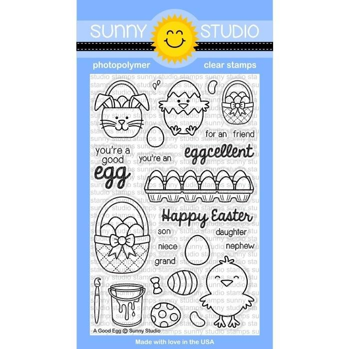 Sunny Studio Clear Stamps A Good Egg