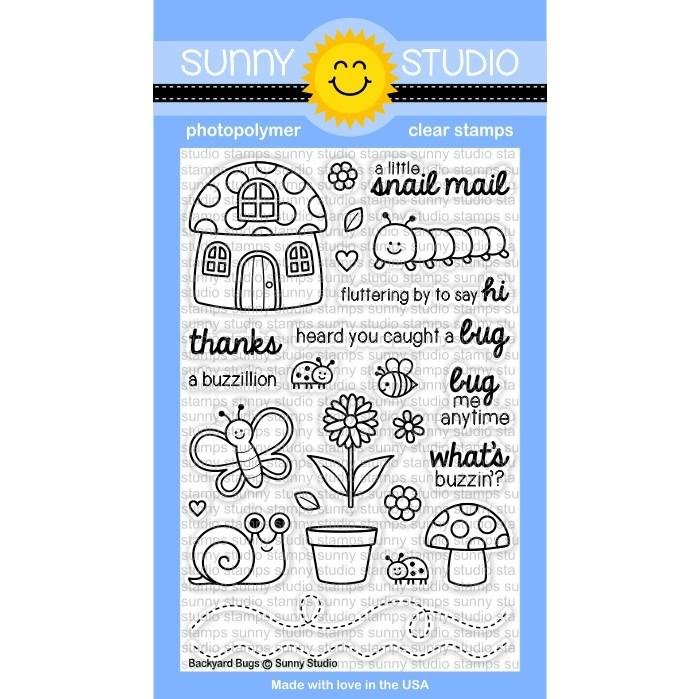 Sunny Studio Clear Stamps Backyard Bugs