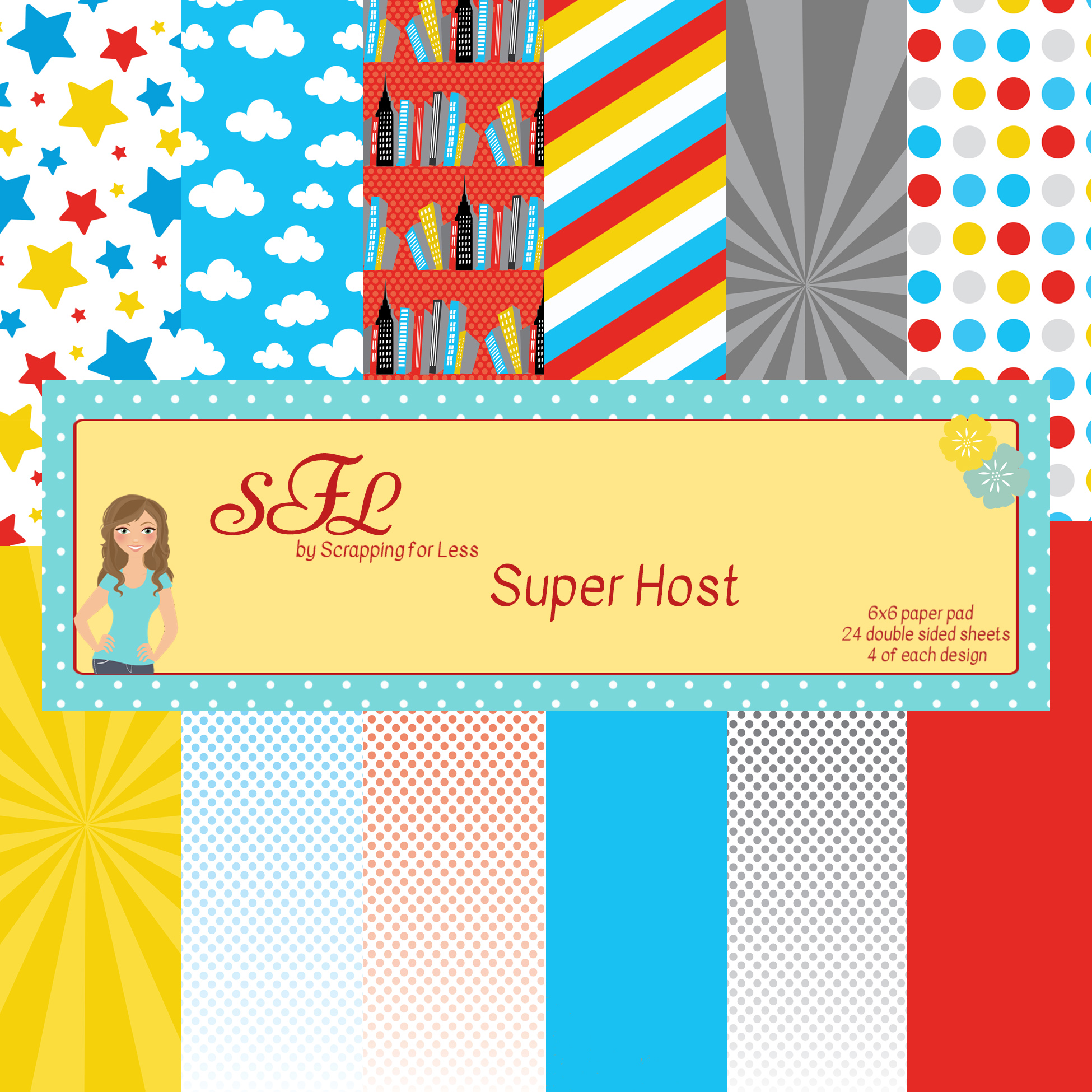 Scrapping for Less Super Host 6x6 Paper Pad