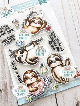 La-La Land Crafts Clear Stamp Set Take It Sloth