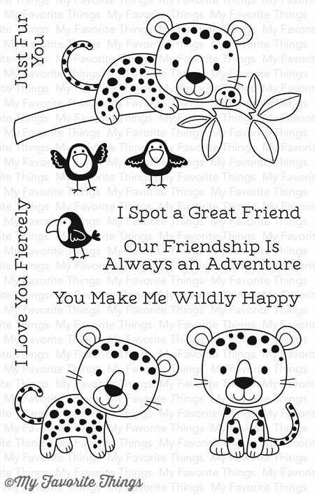 My Favorite Things Stamp & Die Bundle Lovable Leopards