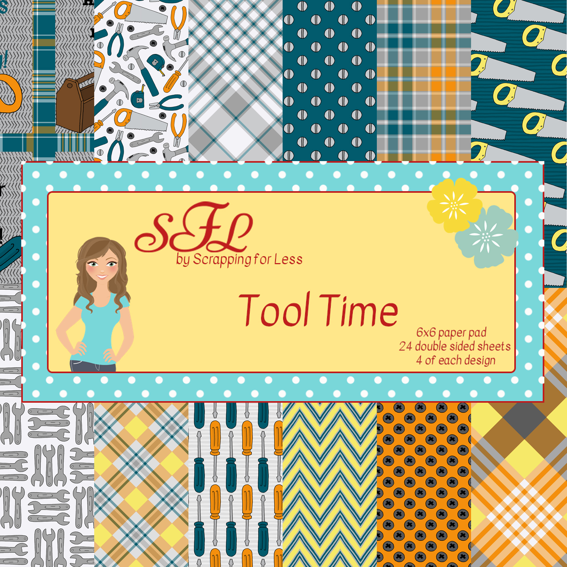 Scrapping for Less Tool Time 6x6 Paper Pad