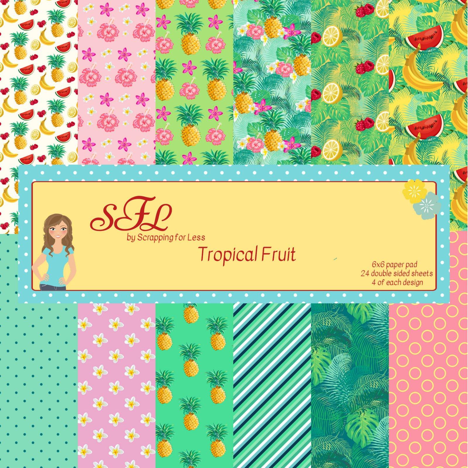 SFL Tropical Fruit 6x6 Paper Pad