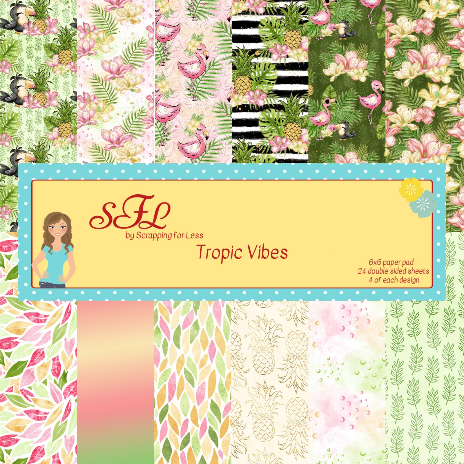 SFL Tropic Vibes 6x6 Paper Pad