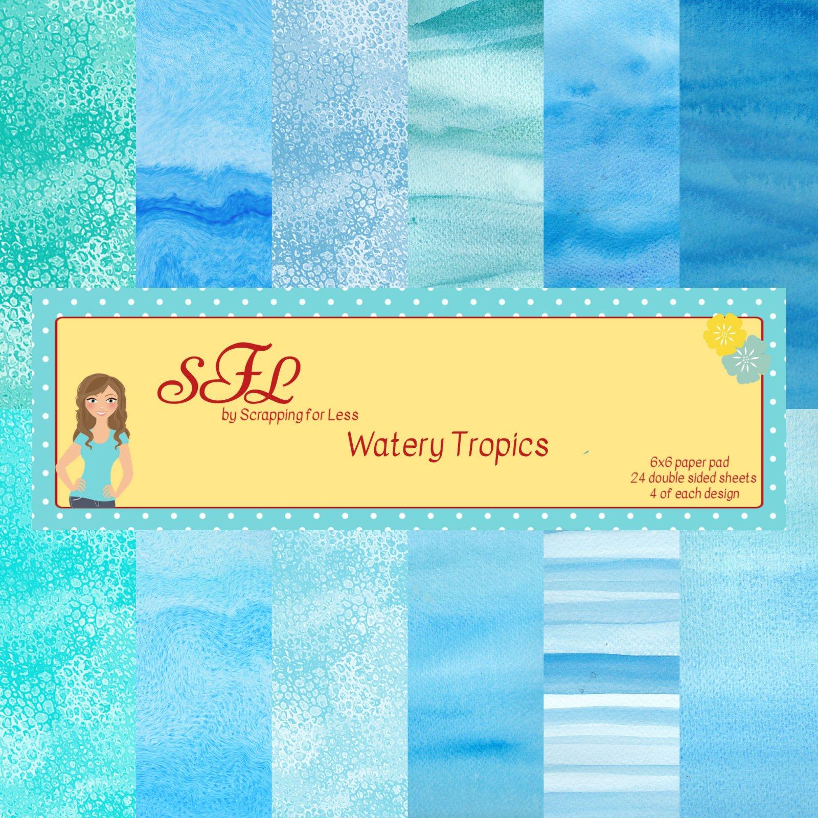 SFL Watery Tropics 6x6 Paper Pad
