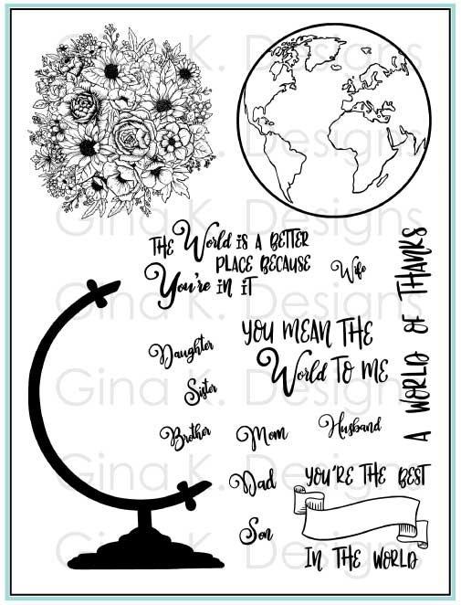 Gina K Designs Stamp Wonderful World