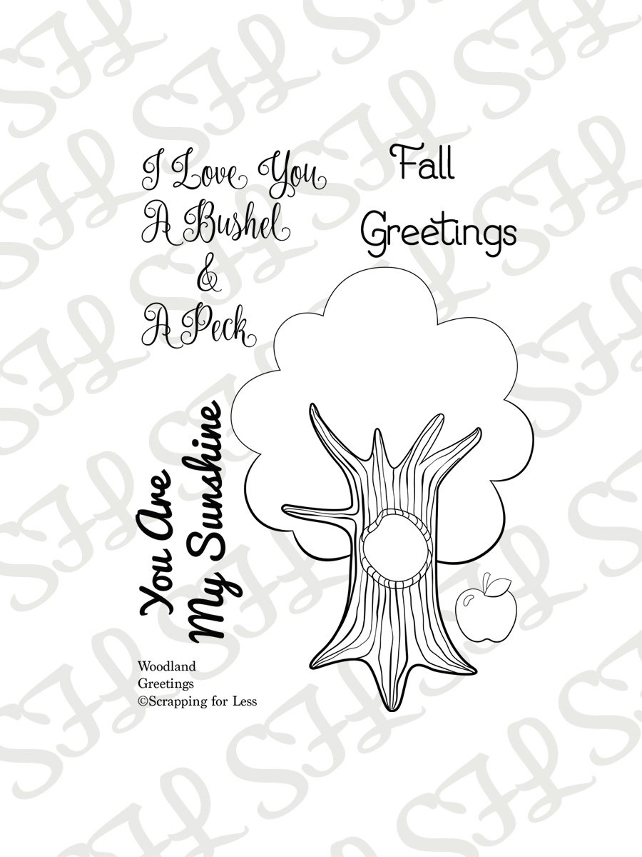 Scrapping for Less Clear Stamps Fall Greetings