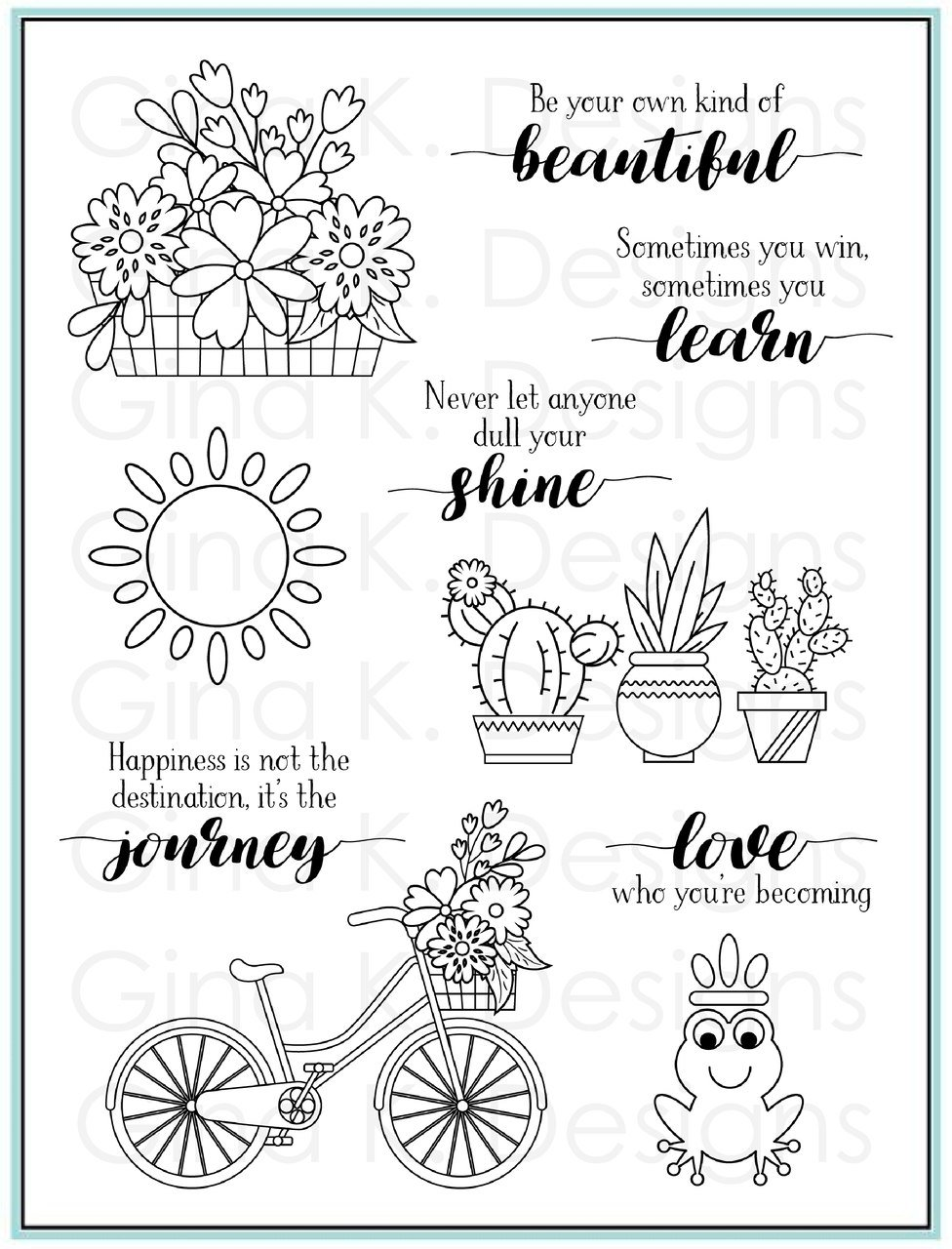 Gina K Designs Clear Stamps Your Own Kind of Beautiful