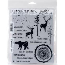 Tim Holtz Cling Stamps 7X8.5-Great Outdoors