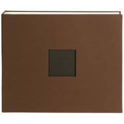 American Crafts D-Ring Cloth Album W/Window 12X12-Chestnut