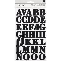 American Crafts Alphabet Stickers Black