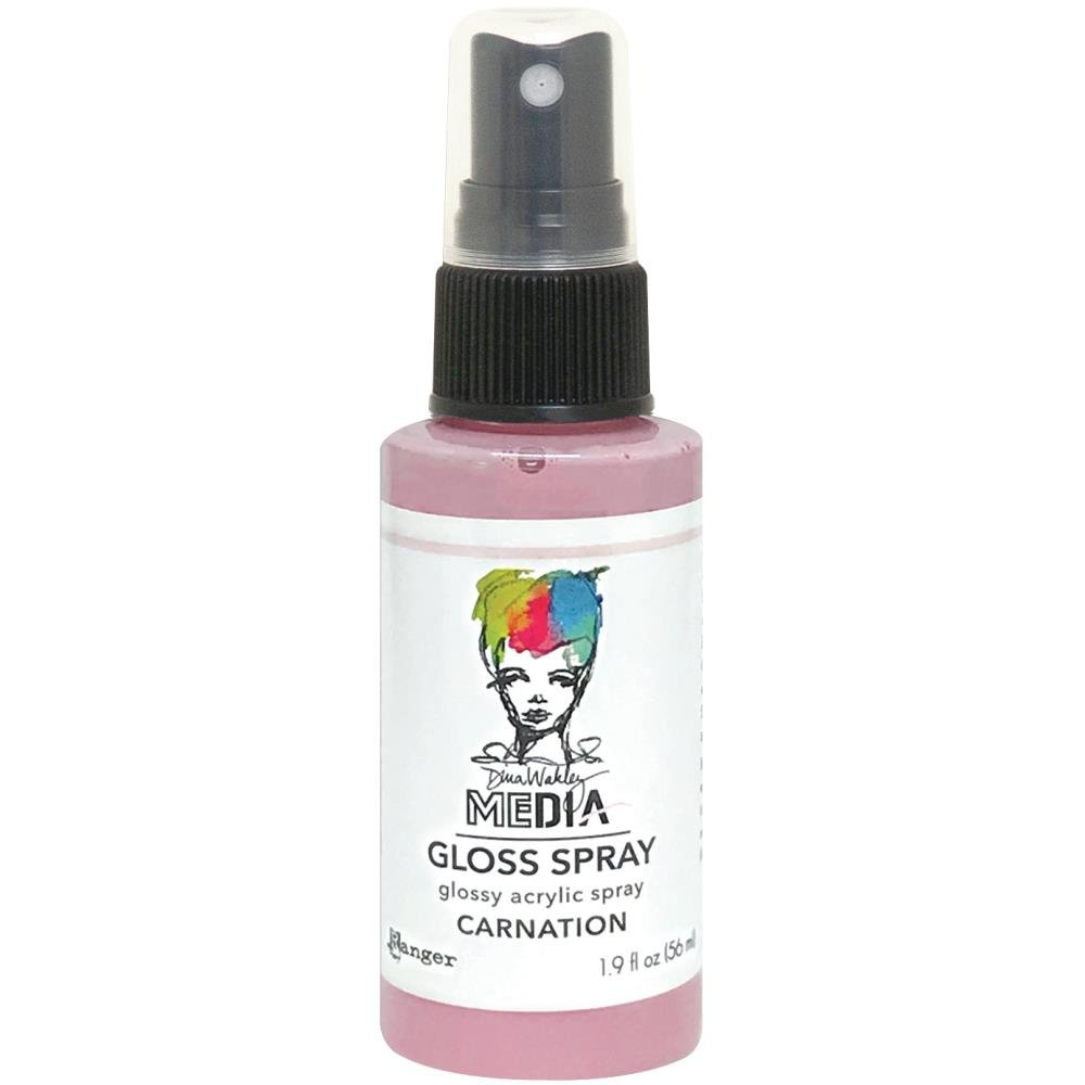 NEW Dina Wakley Media Gloss Sprays 2oz-Carnation