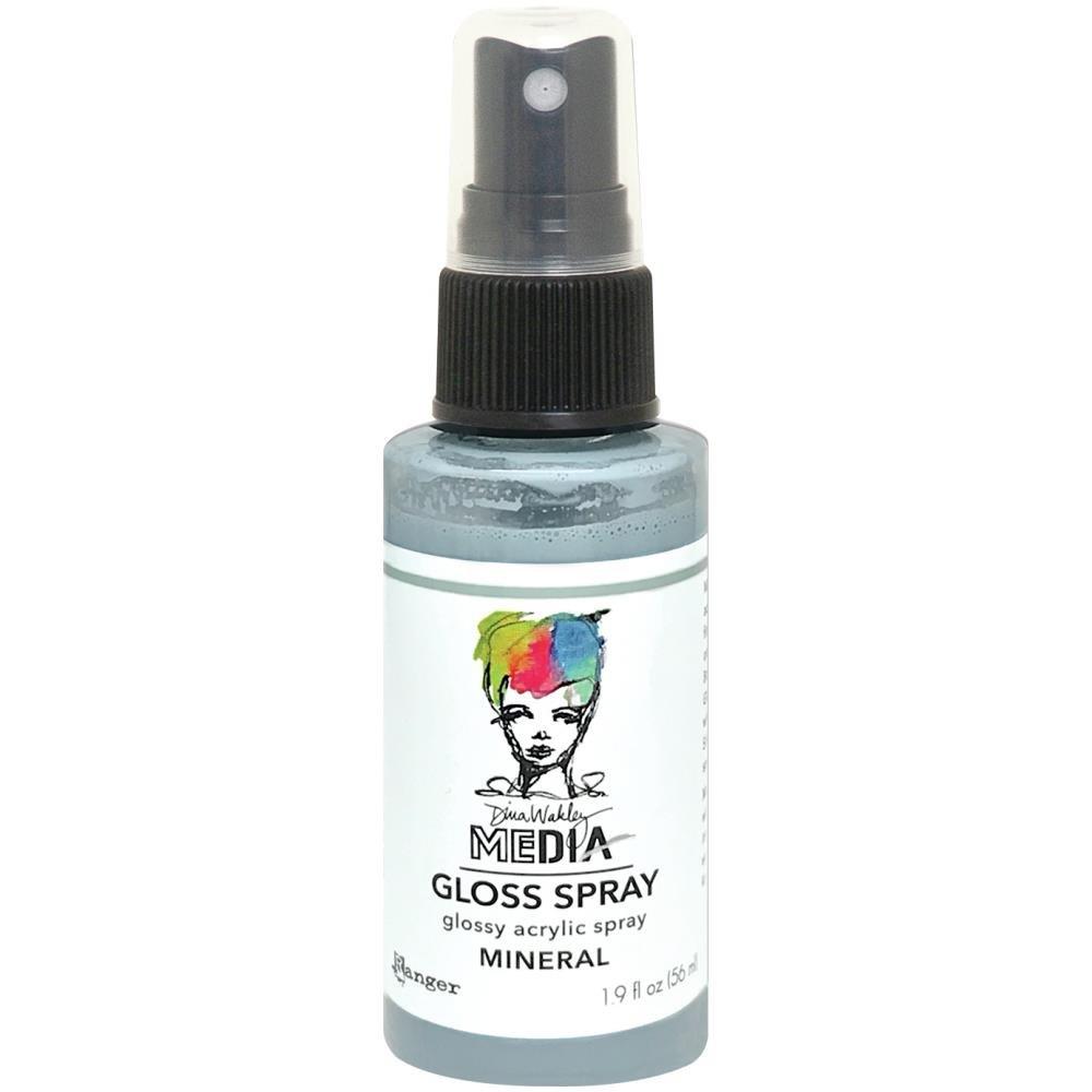 NEW Dina Wakley Media Gloss Sprays 2oz-Mineral
